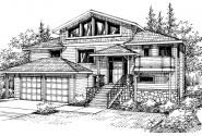 Matice - 30-144 - Contemporary Home Plan - Front Elevation