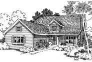 Marion - 30-174 - Country Home Plan - Front Elevation