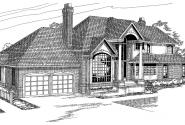 Brinton - 30-178 - European Home Plan - Front Elevation