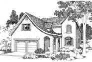 Mirabel - 30-201 - European Home Plan - Front Elevation
