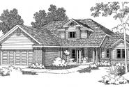 Chivington - 30-260 - Traditional Home Plan - Front Elevation