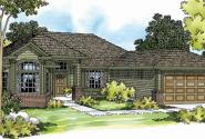 Arvada - 30-261 - Ranch Home Plan - Front Elevation