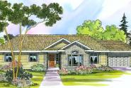 Elliot - 30-278 - Ranch Home Plan - Front Elevation