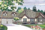 Meridian - 30-312 - Estate Home Plan - Front Elevation