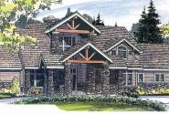 Timberfield - 30-341 - Estate Home Plan - Front Elevation