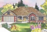 Finley - 30-364 - Traditional Home Plan - Front Elevation