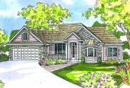 Hargrove - 30-409 - European Home Plan - Front Elevation