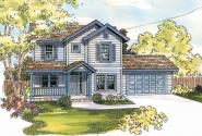 McKinnon - 30-420 - Cottage Home Plan - Front Elevation
