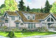 Oxford - 30-451 - Chalet Home Plan - Front Elevation
