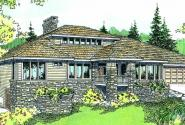 Elmhurst - 30-452 - Contemporary Home Plan - Front Elevation