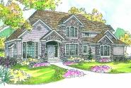 Stonehaven - 30-465 - European Home Plan - Front Elevation