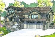 Kelseyville - 30-476 - Craftsman Home Plan - Front Elevation