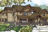 Breckenridge - 30-483 - Estate Home Plan - Front Elevation