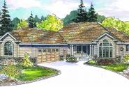 Irvington - 30-493 - Contemporary Home Plan - Front Elevation