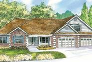Wellesley - 30-494 - Classic Home Plan - Front Elevation