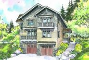 Ridgeview - 30-496 - Craftsman Home Plan - Front Elevation