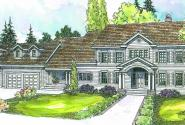 Princeton - 30-497 - Estate Home Plan - Front Elevation