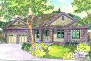 Stansbury - 30-500 - Contemporary Home Plan - Front Elevation