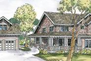 Mapleton - 30-506 - Craftsman Home Plan - Front Elevation