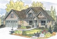 Wilsonville - 30-517 - Craftsman Home Plan - Front Elevation