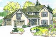 Sausalito - 30-521 - European Home Plan - Front Elevation