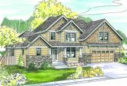 Scarborough - 30-530 - Craftsman Home Plan - Front Elevation