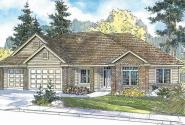 Spencer - 30-537 - Traditional Home Plan - Front Elevation