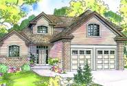 Cranston - 30-539 - Contemporary Home Plan - Front Elevation