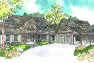 Petersfield - 30-542 - Estate Home Plan - Front Elevation