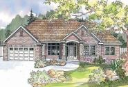 Parkcrest - 30-561 - Traditional Home Plan - Front Elevation