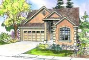 Sedona - 30-568 - Neoclassical Home Plan - Front Elevation