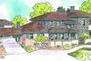 Rossano - 30-569 - Estate Home Plan - Front Elevation