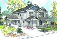 Grovedale - 30-574 - Craftsman Home Plan - Front Elevation