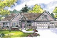 Abbington - 30-582 - Traditional Home Plan - Front Elevation