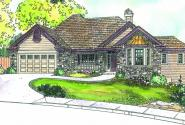 Lethbridge - 30-586 - Country Home Plan - Front Elevation