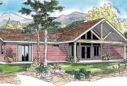 Ottawa - 30-601 - Ranch House Plan - Front Elevation