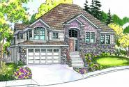 Pennington - 30-602 - European Home Plan - Front Elevation