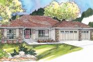 Fieldstone - 30-607 - Ranch Home Plan - Front Elevation