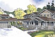 Summerfield - 30-611 - Estate Home Plan - Front Elevation