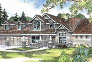 Montego - 30-612 - Craftsman Home Plan - Front Elevation