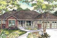 Beaufort - 30-630 - Contemporary Home Plan - Front Elevation