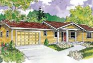 Gatsby - 30-664 - Ranch Home Plan - Front Elevation