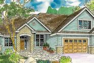 Landry - 30-665 - European Home Plan - Front Elevation
