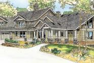 Brookport - 30-692 - Estate Home Plan - Front Elevation