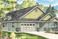 Russellville - 30-724 - Craftsman Home Plan - Front Elevation