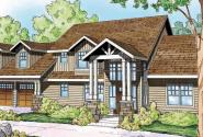 Grand River - 30-754 - Lodge House Plan - Front Elevation