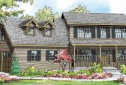 Alsea - 30-756 - Country Home Plan - Front Elevation