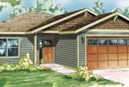 Harlequin - 30-759 - Craftsman Home Plan - Front Elevation