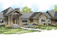 Barrett - 30-773 - Estate Home Plan - Front Elevation