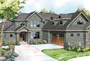 Canyonville - 30-775 - European Home Plan - Front Elevation